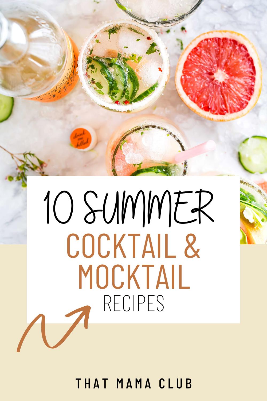 Summer cocktail & mocktail recipes
